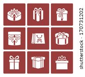 present boxes icons set for...