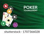 poker table background in green ... | Shutterstock .eps vector #1707366028