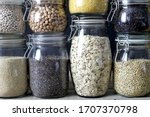 Healthy Foods In Glass Jars....