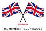 united kingdom flag waving... | Shutterstock .eps vector #1707460018