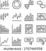 stock trading icon set vector... | Shutterstock .eps vector #1707469558