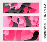 abstract vector wavy pattern... | Shutterstock .eps vector #1707478165