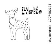 Hand Drawn Little Goat Say...