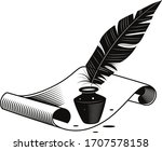 vector image of a quillpen with ... | Shutterstock .eps vector #1707578158