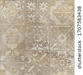 digital tiles design.  3d... | Shutterstock . vector #1707583438