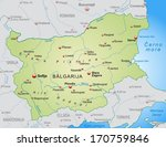 map of bulgaria as an overview... | Shutterstock . vector #170759846