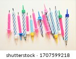 birthday candeles object group... | Shutterstock . vector #1707599218