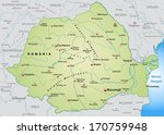 map of romania as an overview... | Shutterstock . vector #170759948