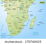 map of africa as an overview... | Shutterstock . vector #170760425