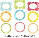 polkadot frame   Shutterstock .eps vector #170760536