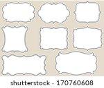 vintage retro frames | Shutterstock .eps vector #170760608