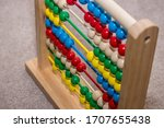 Wooden Abacus With Colorful...