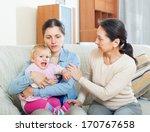 mature woman comforting ...   Shutterstock . vector #170767658