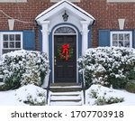 Front Door Of  House With...