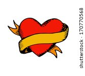 classic tattoo vector heart and ... | Shutterstock .eps vector #170770568