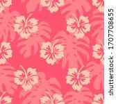 hibiscus flower pattern ...   Shutterstock .eps vector #1707708655