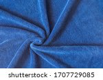 Twisted Blue Towel. Abstract...