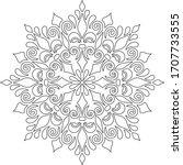 figure mandala for coloring... | Shutterstock .eps vector #1707733555
