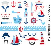 nautical party set   photobooth ... | Shutterstock .eps vector #170773382