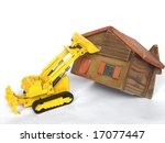 eviction from house being... | Shutterstock . vector #17077447