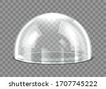 Glass Dome Isolated On...