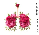Botanical Floral Lungs With Re...