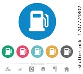 gas station flat white icons on ... | Shutterstock .eps vector #1707774802
