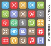 video interface icon for web or ... | Shutterstock .eps vector #170778302