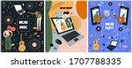 set online festival posters.... | Shutterstock .eps vector #1707788335