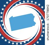 label with map of pennsylvania  ... | Shutterstock .eps vector #170778842