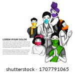 illustration of medical... | Shutterstock .eps vector #1707791065