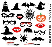 halloween party photo booth... | Shutterstock .eps vector #1707795262