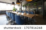 Open Wooden Bar Counter With...