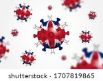 covid 19 . 3d floating corona... | Shutterstock .eps vector #1707819865
