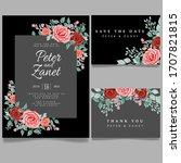 floral wedding card event... | Shutterstock .eps vector #1707821815