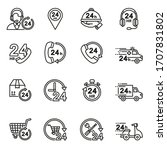 24 hours icons collection set... | Shutterstock .eps vector #1707831802