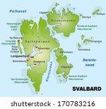 map of svalbard as an overview...   Shutterstock . vector #170783216