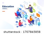 online education  school... | Shutterstock .eps vector #1707865858