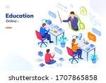 online education  school... | Shutterstock .eps vector #1707865858