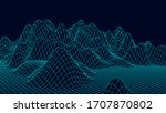 wireframe landscape design on...   Shutterstock .eps vector #1707870802