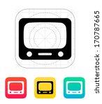 tv icon. vector illustration.
