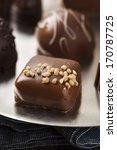 gourmet fancy dark chocolate... | Shutterstock . vector #170787725
