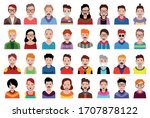 people icons set avatar profile ... | Shutterstock .eps vector #1707878122