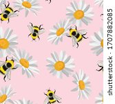 Seamless Pattern Of Camomile ...
