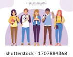 student character collection... | Shutterstock .eps vector #1707884368