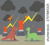 dinosaurs fighting before... | Shutterstock .eps vector #1707885325