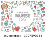 greeting card for international ... | Shutterstock .eps vector #1707890365