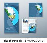 bi fold brochure or flyer... | Shutterstock .eps vector #1707929398