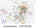 color pencil shaves on a white... | Shutterstock . vector #170793146