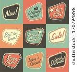 retro labels | Shutterstock .eps vector #170794898